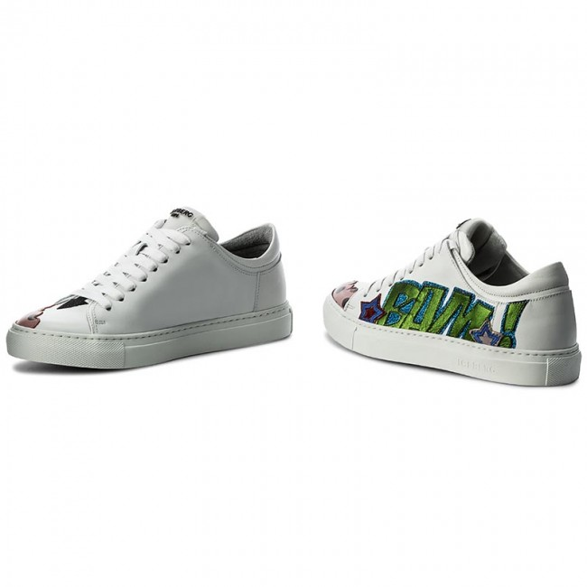 Basse Scarpe Sneakers Bianco 17i Id1061a Color Iceberg Nappa Serena Bianco Donna galaxy WE29IHD