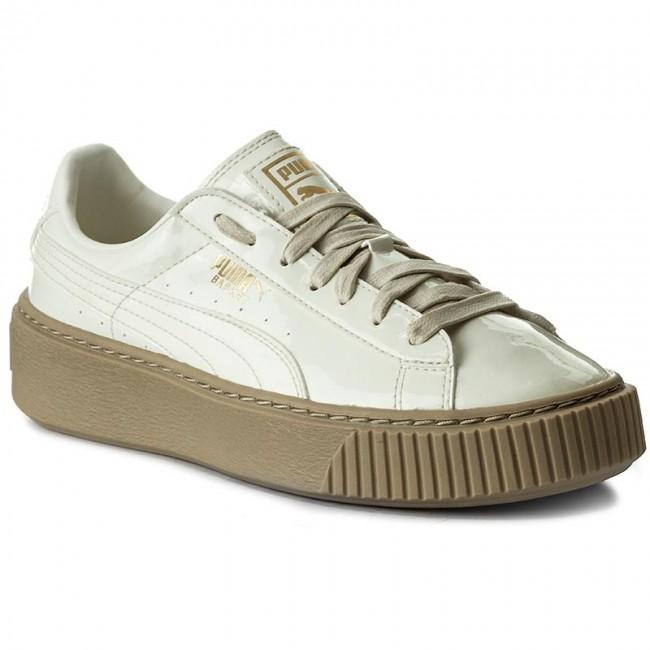 puma basket platform patent scarpe da ginnastica basse donna