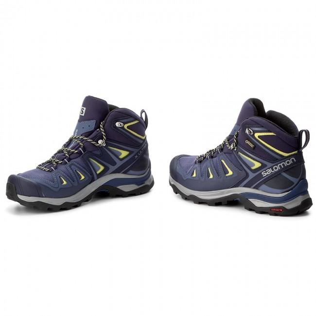 Scarpe da trekking SALOMON X Ultra 3 Mid Gtx W GORE TEX 398691 22 V0 Crown BlueEvening BlueSunny Lime