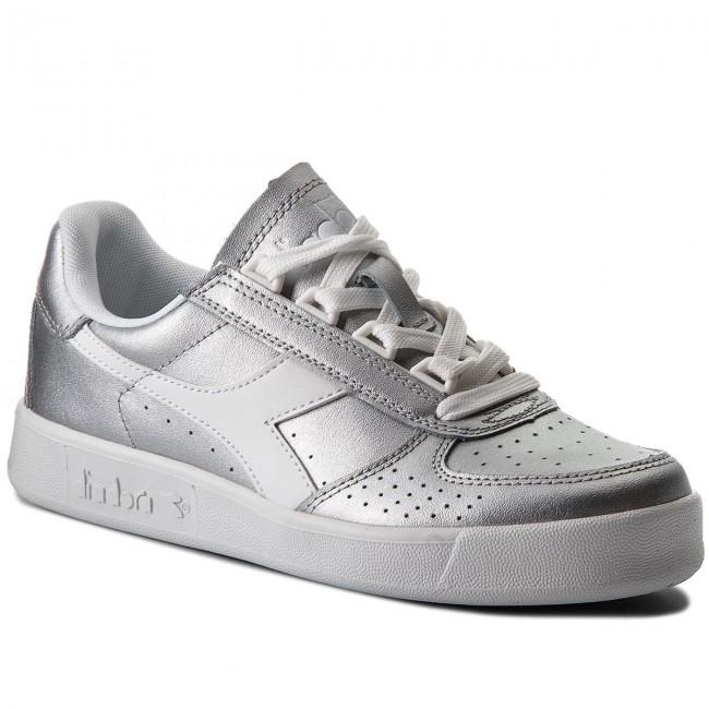 173209 Diadora Metallic Sneakers B Silver 501 90001 L 01 elite Metalized JcTK1F3l