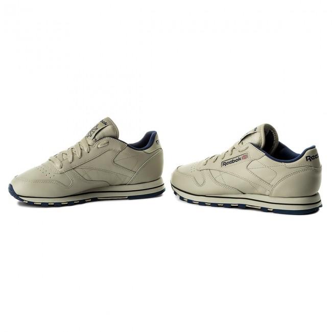 Scarpe Cl 28412 Reebok Basse Lthr navy Donna Sneakers Ecru rsxohBCtdQ