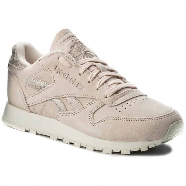 silver Donna Lthr Shimmer chalk Basse Pale Sneakers Reebok Bs9865 Cl Skin Scarpe hxtCBQdsr