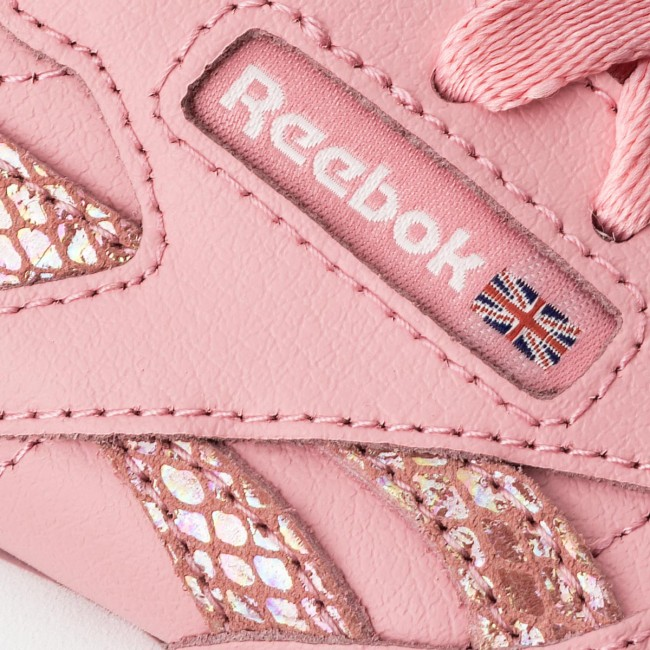 Pink Cl Spring white Scarpe Leather Cn0306 Basse Donna Reebok 8vmN0wn
