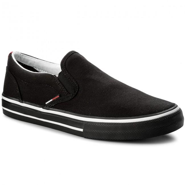 Tommy Jeans Scarpe sportive TOMMY JEANS - Textile Slip On EM0EM00002 Black  990 f4a74f2c367