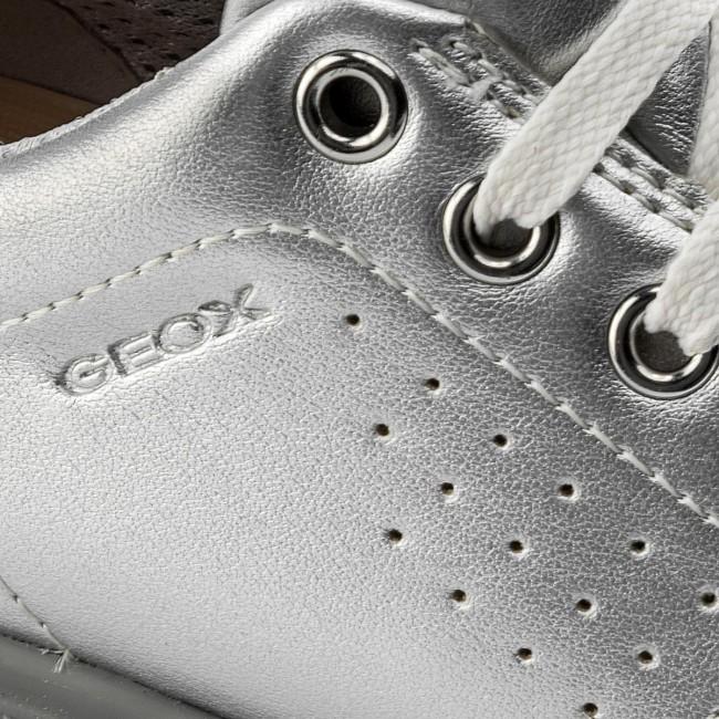 Geox Thymar Girl A Scarpe Sneaker Bambina Ragazza Argento J744FA-000NF-C1007