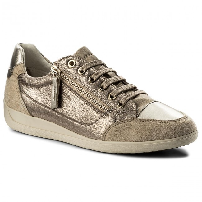 Sneakers GEOX D Myria A D6468A 0CD22 C9HH6 LeadLt Taupe