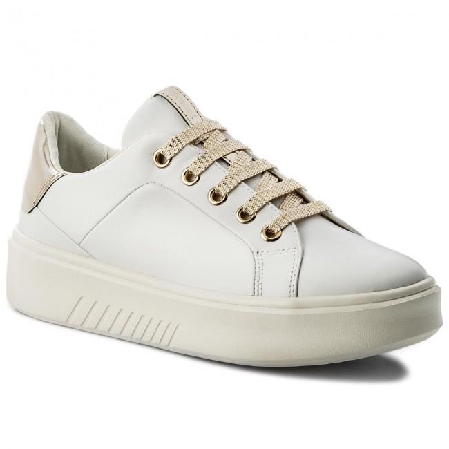 00085 C1000 White Donna D Basse Sneakers D828da Nhenbus Scarpe A Geox HI9WD2YE