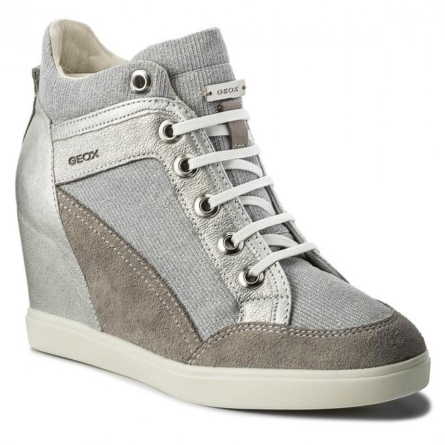Sneakers GEOX D Eleni C D7267C 022EW C1355 Lt GreySilver