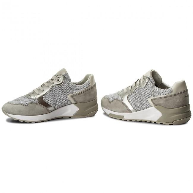 Sneakers GEOX D Phyteam B D824DB 06K22 C1236 WhiteLt Grey