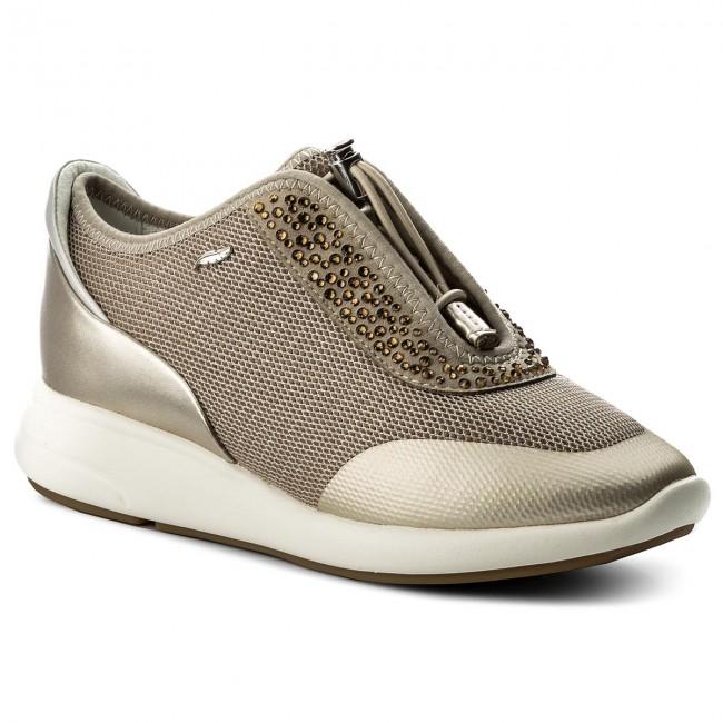 Sneakers GEOX D Ophira E D621CE 0GNAJ CH62L Lt TaupeLt Gold