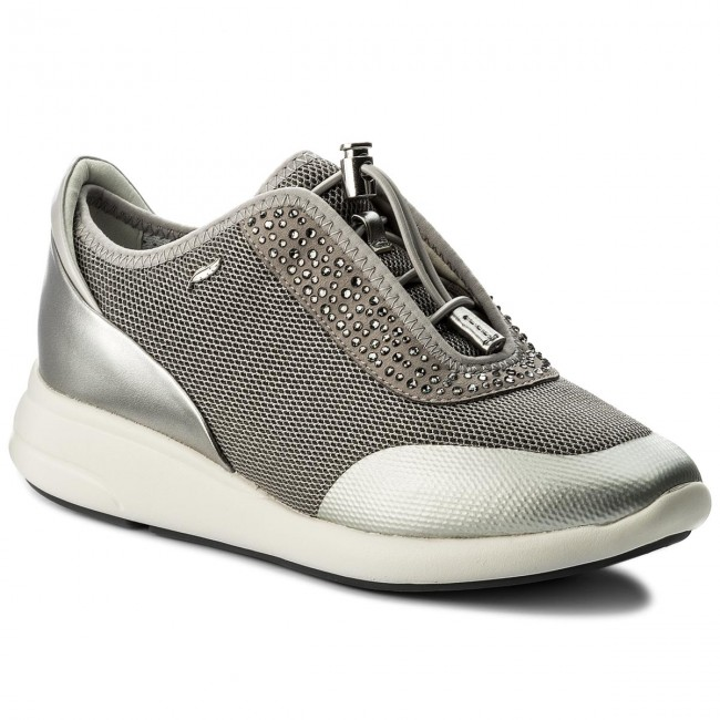 Sneakers GEOX D Ophira E D621CE 0GNAJ C1L1N Lt GreyLt Silver