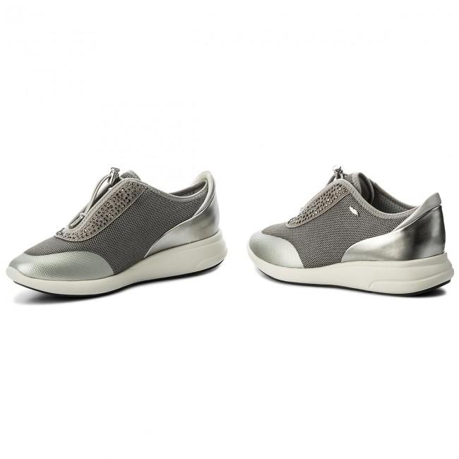 Sneakers GEOX D Ophira E D621CE 0GNAJ C1L1N Lt GreyLt Silver