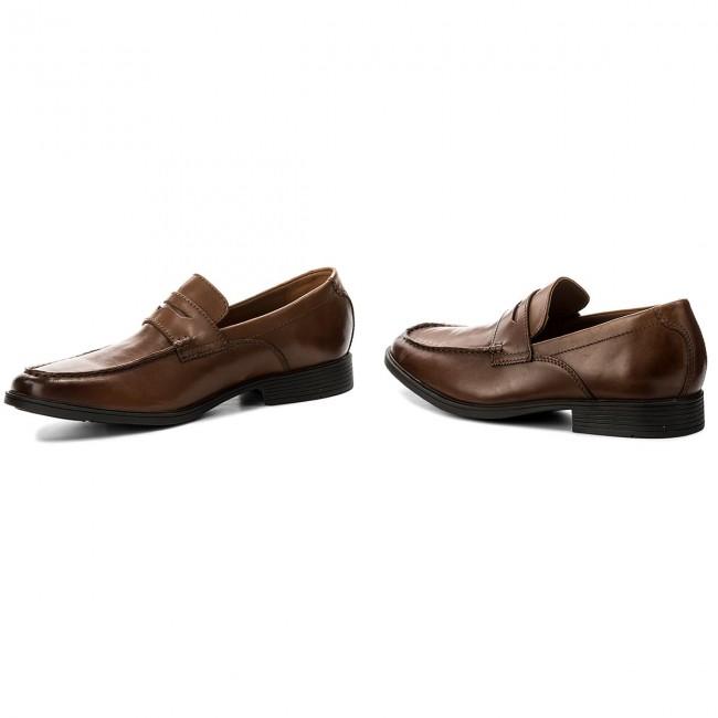 Scarpe basse CLARKS Tilden Way 261315767 Tan Leather