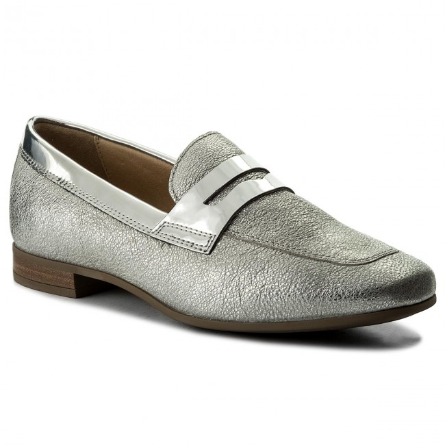 B D828pb Loafers C1007 Silver Scarpe Marlyna Donna Basse 0kybn Geox D tCdsQhr