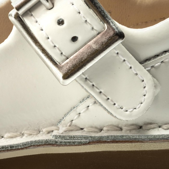 Clarks Yarn Jump 261337666 White Patent Bianco Scarpe