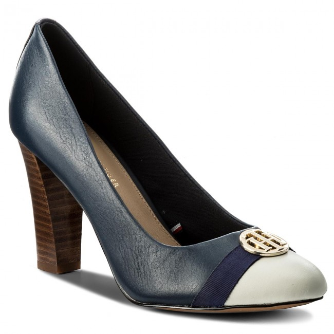 Scarpe basse TOMMY HILFIGER Pump With Hardware Decoration FW0FW02579 Tommy Navy 406