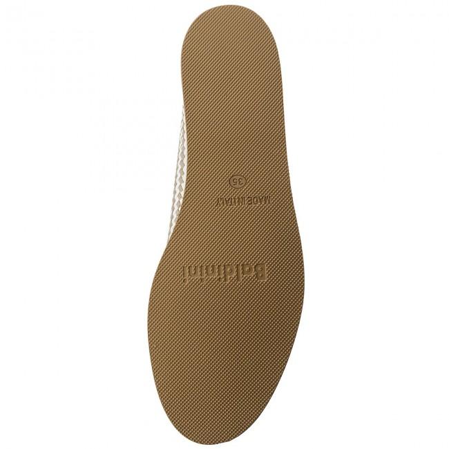 Loafers Baldinini - 898570xdola9086xxrxx Dome Bianco/laminato Platino Scarpe Basse Donna