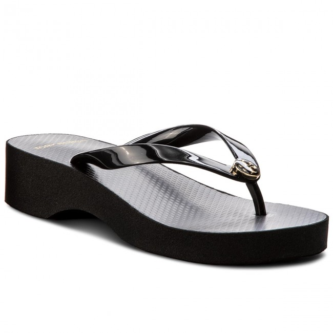 Infradito TORY BURCH - Cut-Out Wedre Flip Flop 48211 Black/Black 009