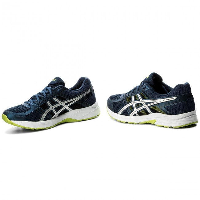 Scarpe ASICS Gel Contend 4 T715N Dark BlueSilverSafety Yellow 4993