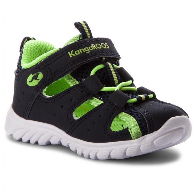 KangaROOS Rock Lite Sneaker Bambini Scarpe Da Ginnastica Dark Navy Lime 0130a-481