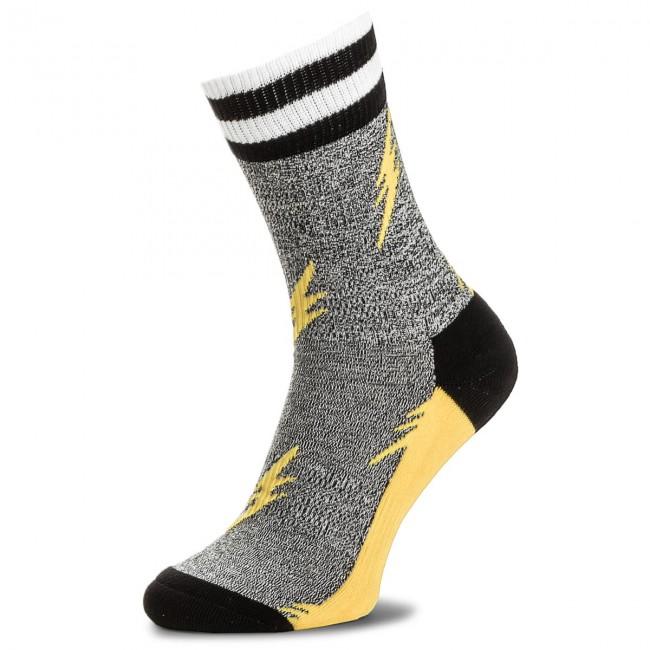 Calzini Unisex Giallo Grigio Tessili Happy Lunghi Socks Atfla27 7000 Donna Accessori hQrdstC