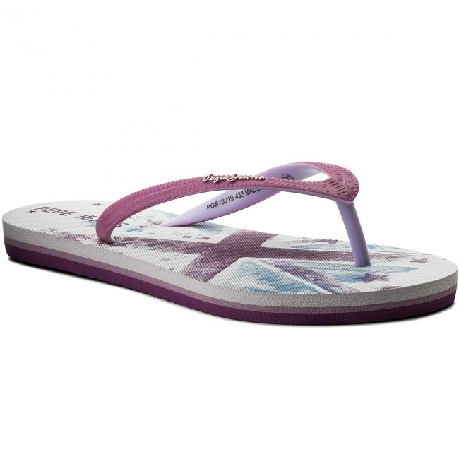Bambina Jeans Pgs70019 433 Violet Pepe Sandali Bambino Beach E Stars Infradito Girl Ciabatte hxtQCsrd
