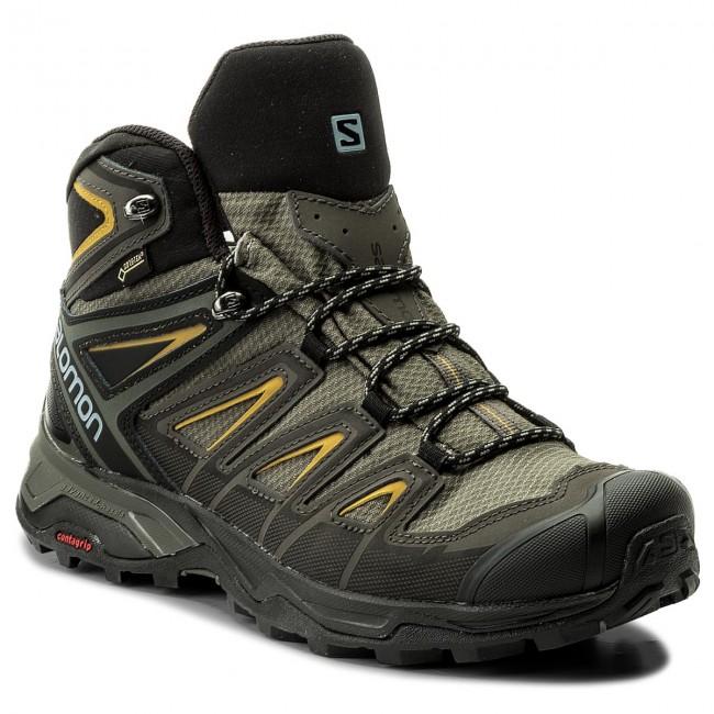 competitive price e0d9e 4704b Scarpe da trekking SALOMON - X Ultra 3 Mid Gtx GORE-TEX 401337 28 W0 Castor  Gray/Green Sulphur