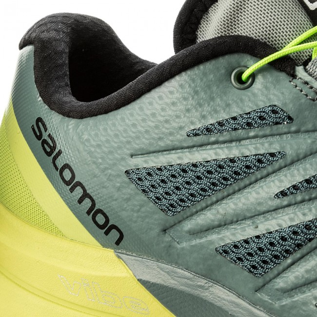 Scarpe SALOMON Sense Pro Max 402411 27 W0 Stormy WeatherAcid LimeBlack
