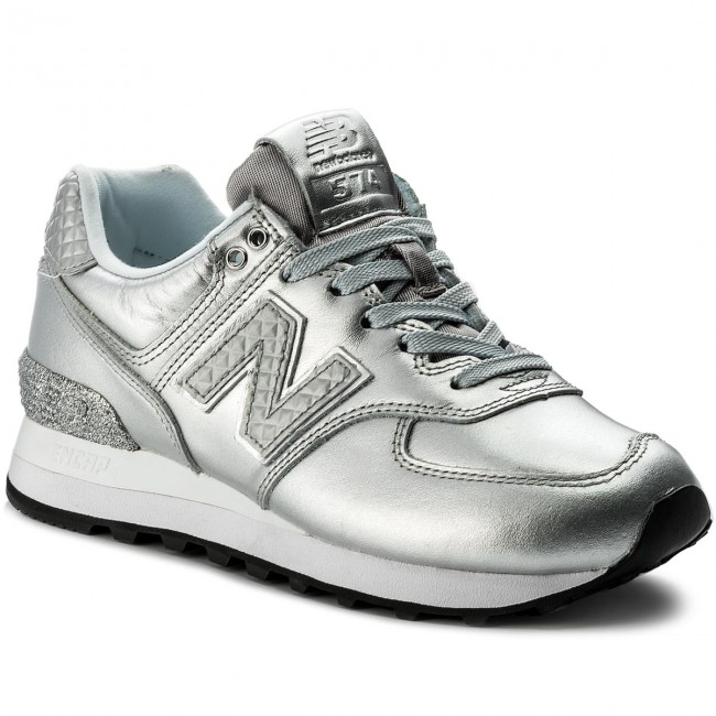 new balance 574 donna nere argento