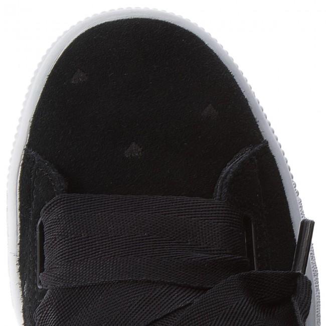 Suede Basse puma Scarpe Valentine Black 365135 Black Puma 02 Sneakers Donna Heart Jr AcL354Rjq