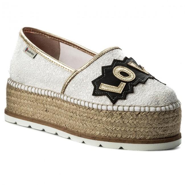 7e57ea1c04 Espadrillas ESPADRILLES - J.Love 20349-22072-1 Glitter Bianco
