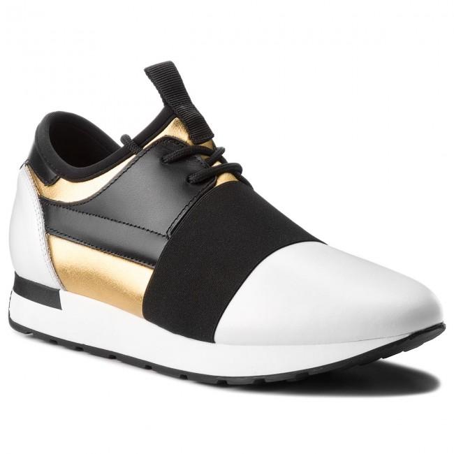 9a2a932647cf24 Sneakers POLLINI - SA15023G05TZ590A Oro/Vit.Bi/Ne - Sneakers - Scarpe basse  - Donna - escarpe.it