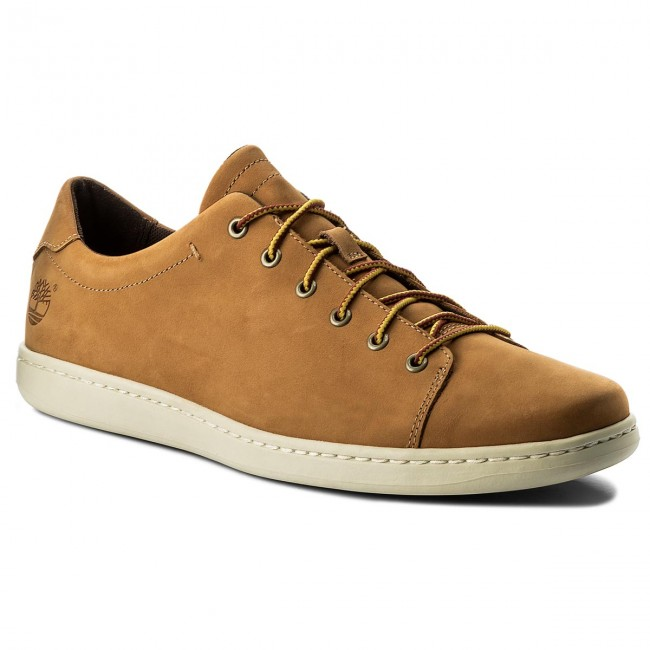 Timberland Court A1gmt Leather Sneakers Side Ox Wheat jc35ALq4RS