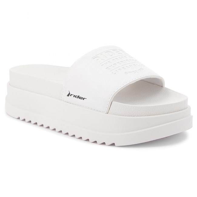 Ciabatte 23997 Up 11297 E Donna White Slide Fem Sandali Zeppe Rider Power 0NwOvm8n