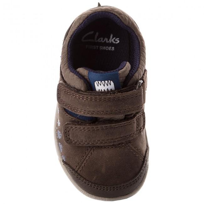 Bambino Leather Scarpe A Walk Clarks Brown Strappi 261316956 Basse Trail 4L35cqjAR