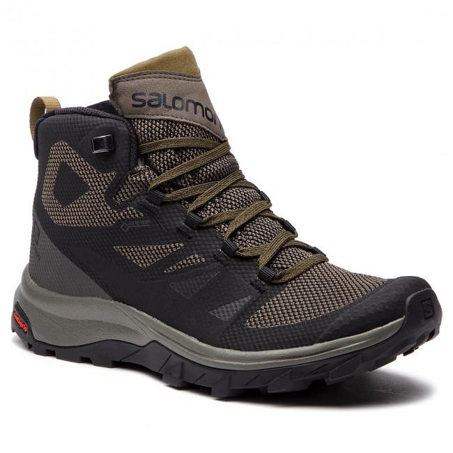 Scarpe da trekking SALOMON Outline Mid Gtx GORE TEX 404763 27 V0 BlackBelugaCapers