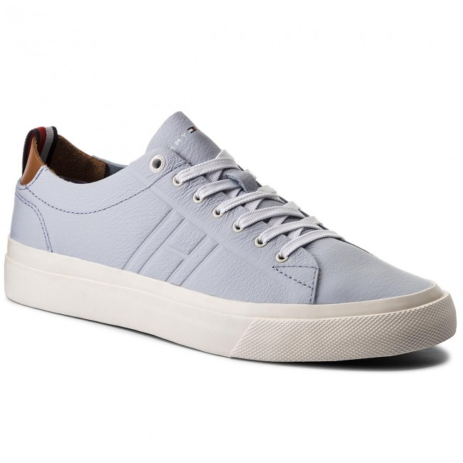 Unlined Leather Pastel Sportive Low Tommy Cut Hilfiger Scarpe XulwPkZTOi