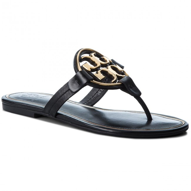 Infradito TORY BURCH - Metal Miller 47617 Perfect Black/Gold 013