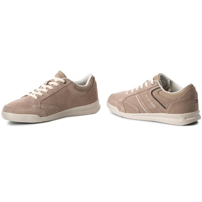 Sneakers TOMMY HILFIGER Corporate Detail Suede Sneaker FM0FM01622 Taupe 255
