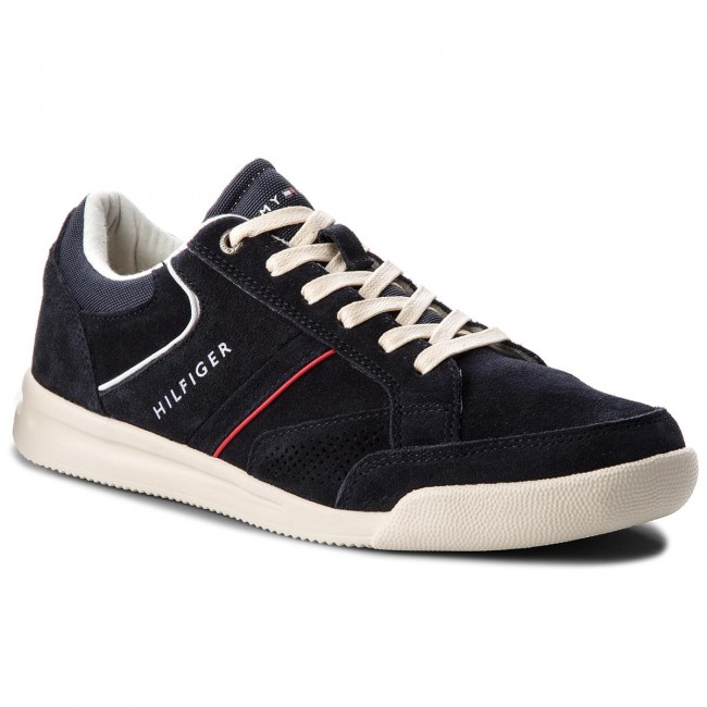 Sneakers TOMMY HILFIGER Corporate Detail Suede Sneaker FM0FM01622 Midnight 403