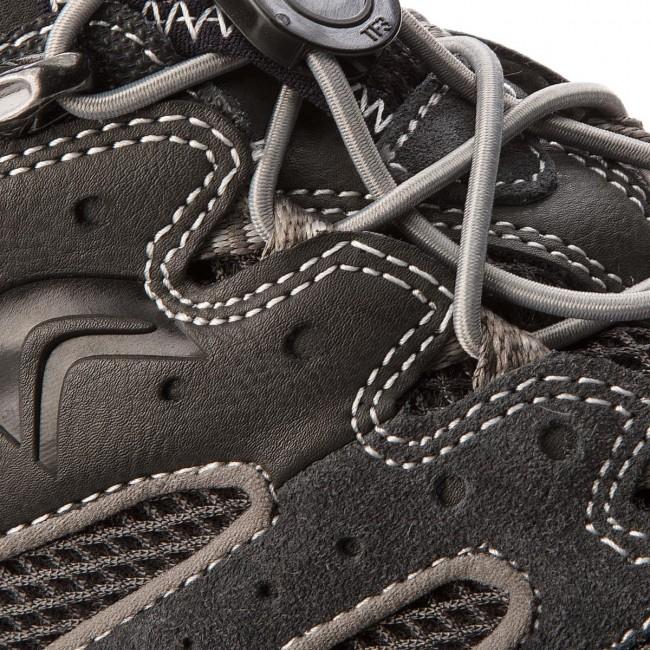 Shoes GEOX U Snake J U4207J 02214 C358 Dk GreyLt Grey