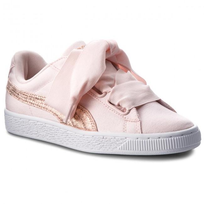 Sneakers PUMA Basket Heart Canvas 366495 02 PearlPuma WhiteRose Gold