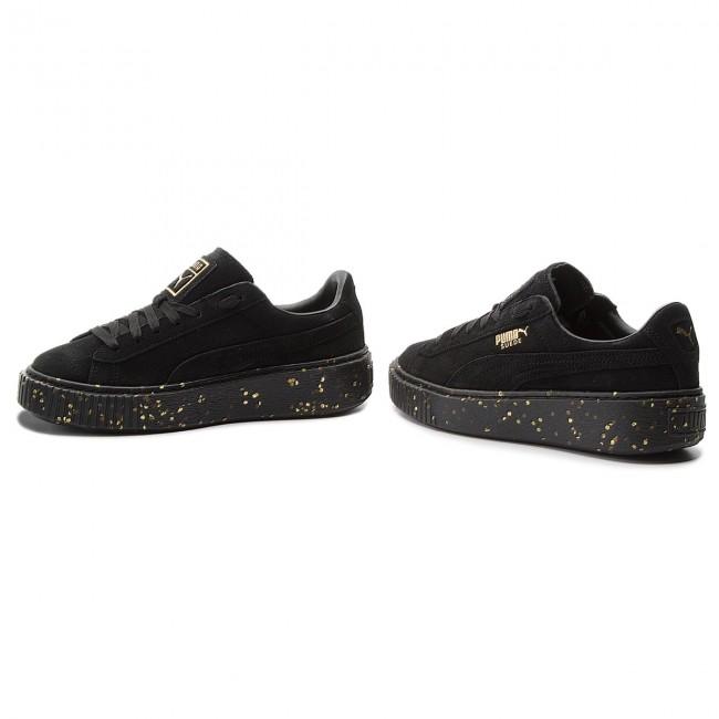 Sneakers PUMA Suede Platform Celebrate 365621 01 Puma BlackPuma Team Gold