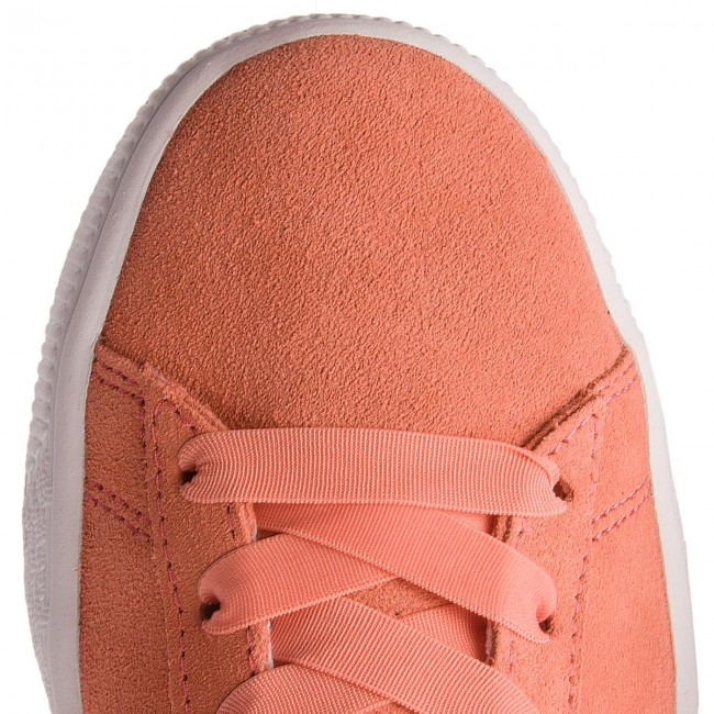 Donna Suede 367316 Jr Basse Shell Puma shell Pink Bow Sneakers Scarpe 01 Pink YIbf67vgy