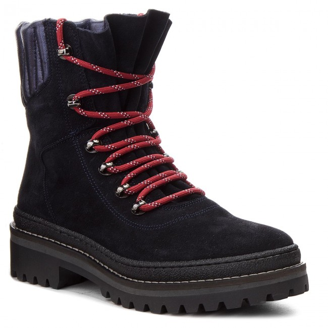 separation shoes 62efd 21c56 Scarponcini TOMMY HILFIGER - Modern Hiking Boot Suede FW0FW03048 Midnight  403