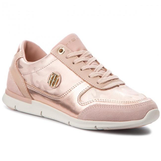 Sneakers TOMMY HILFIGER Camo Metallic Light Sneaker FW0FW03231 Mahogany Rose 641