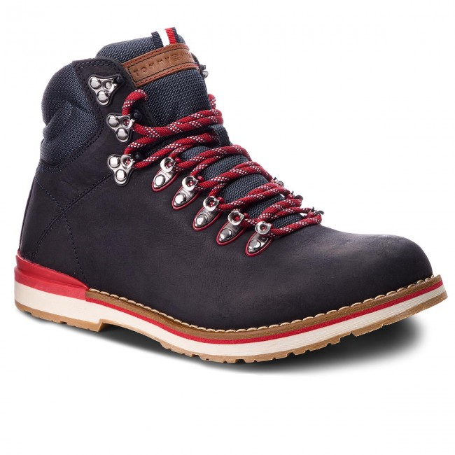 separation shoes e6d54 c8d82 Scarponcini TOMMY HILFIGER - Outdoor Hiking Detail Boot FM0FM01755 Midnight  403