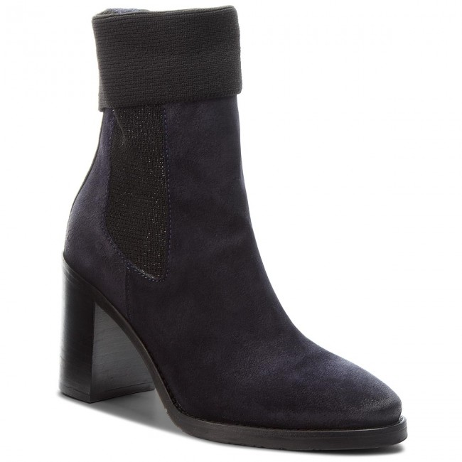 Tronchetti TOMMY HILFIGER Knitted Sock Heeled FW0FW03442 Midnight 403