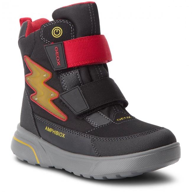 a1c6cd6d1943e0 Stivali da neve GEOX - J Sveggen B.Babx C J847UC 0CEFU C0048 S Black/Red -  Scarponcini e stivali da neve - Stivali e altri - Bambino - Bambino -  escarpe.it