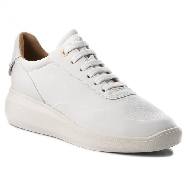 Bianco White Off White Geox D Nydame A A, Scarpe da